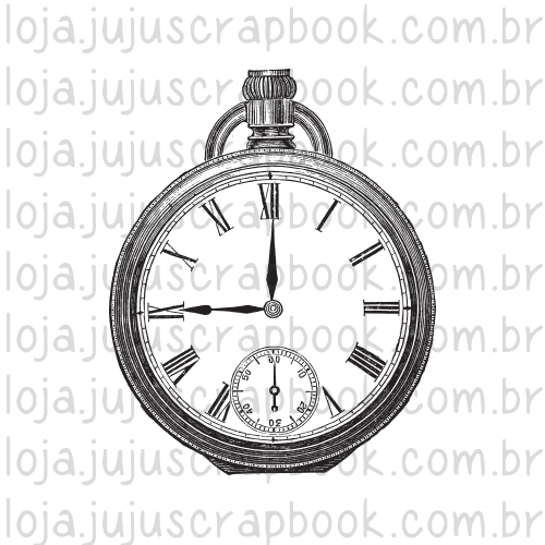 Carimbo Modelo Relógio Vintage - Coleção Família para Sempre / JuJu Scrapbook  - JuJu Scrapbook