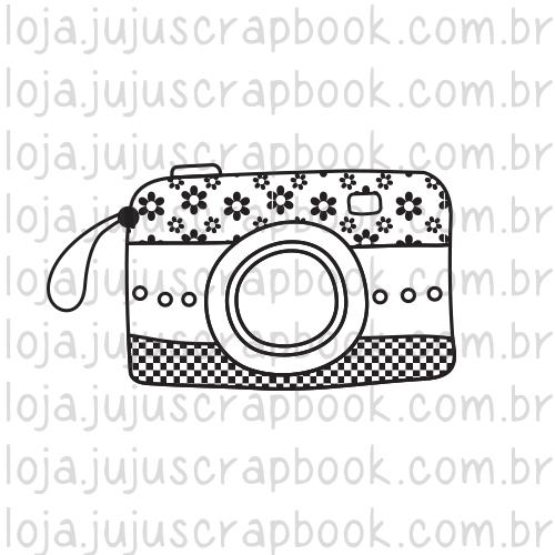 Carimbo Câmera Florida - Coleção Love Scrap - JuJu Scrapbook  - JuJu Scrapbook