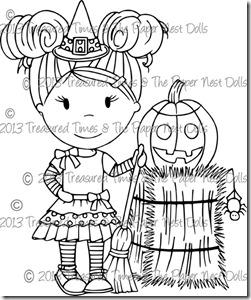 Carimbo Treasured Times - Modelo Little Witch  - JuJu Scrapbook