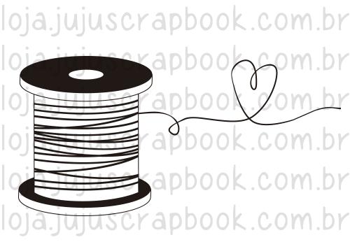 Carimbo Carretel - Coleção Love Scrap - JuJu Scrapbook  - JuJu Scrapbook