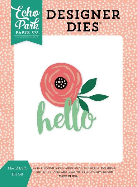 Die Echo Park Paper Co. - Modelo Floral Hello   - JuJu Scrapbook
