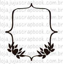Carimbo Modelo Moldura Folhas - Coleção Floresta Encantada / Juju Scrapbook  - JuJu Scrapbook