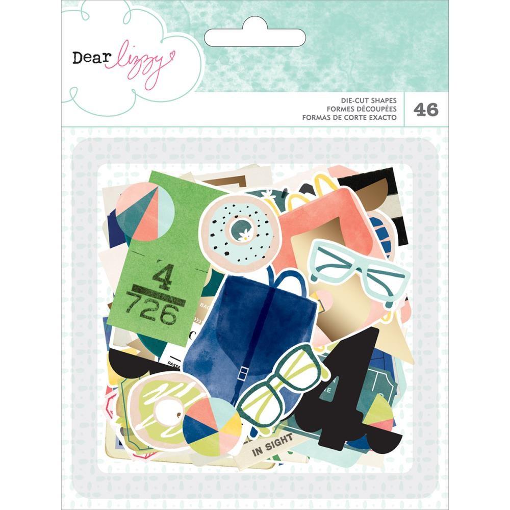 Die-Cut Coleção Saturday - Dear Lizzy  - JuJu Scrapbook