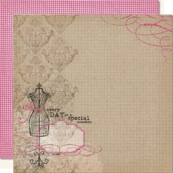 Papel Dupla Face com Glitter - Modelo Princess  - JuJu Scrapbook