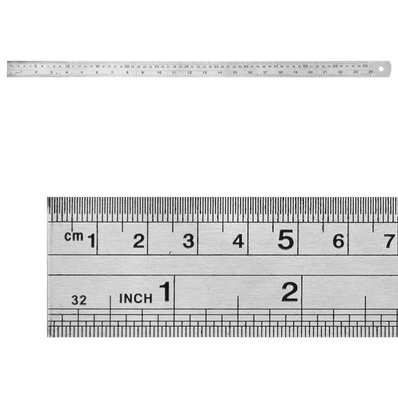 Régua de Metal - 30cm  - JuJu Scrapbook