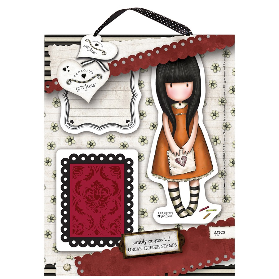 Urban Stamp (4pcs) - Gorjuss - I Gave You My Heart  - JuJu Scrapbook