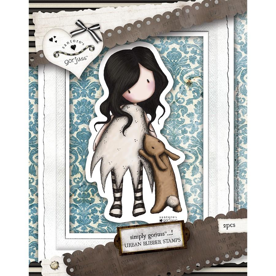 Urban Stamp (2pcs) - Gorjuss - I Love You Little Rabbit  - JuJu Scrapbook