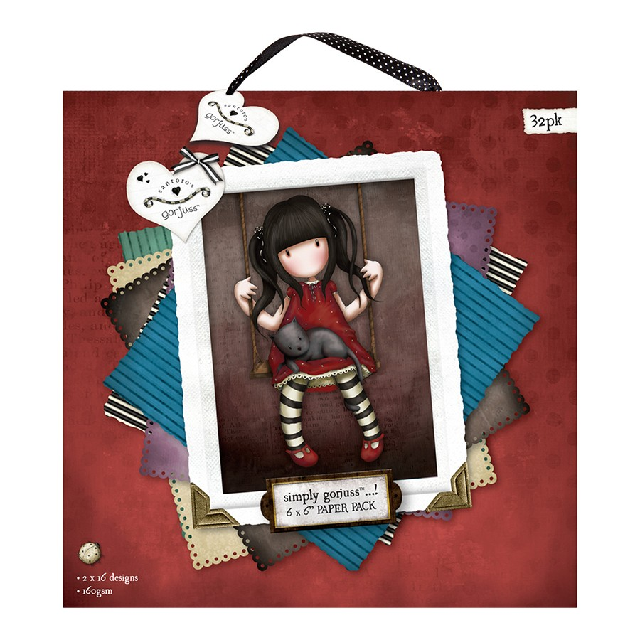 6 x 6´ Paper Pack (32pk) - Gorjuss  - JuJu Scrapbook