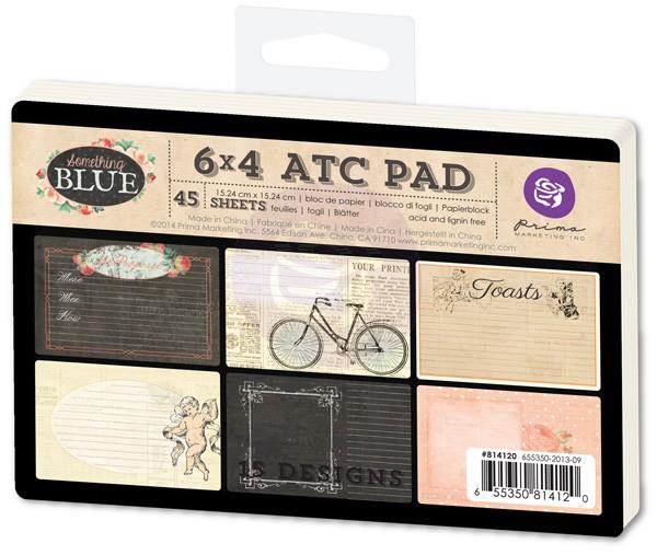 ATC PAD 6x4 (45pcs) - Something Blue  - Prima Marketing  - JuJu Scrapbook