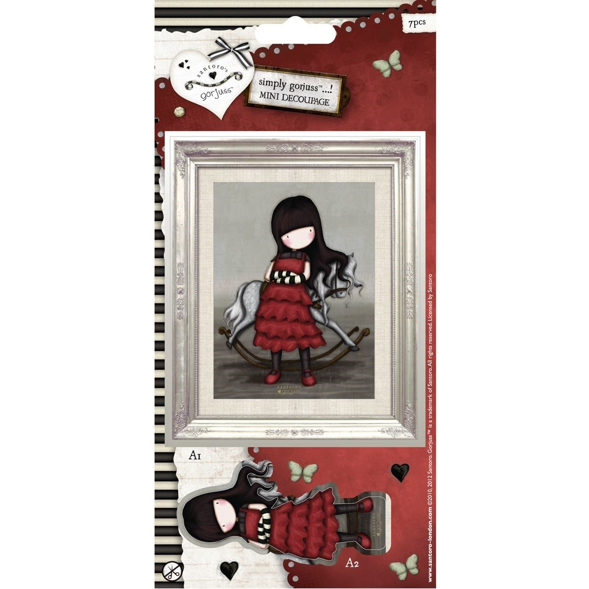 Mini Decoupage - Simply Gorjuss - The Getaway  - JuJu Scrapbook