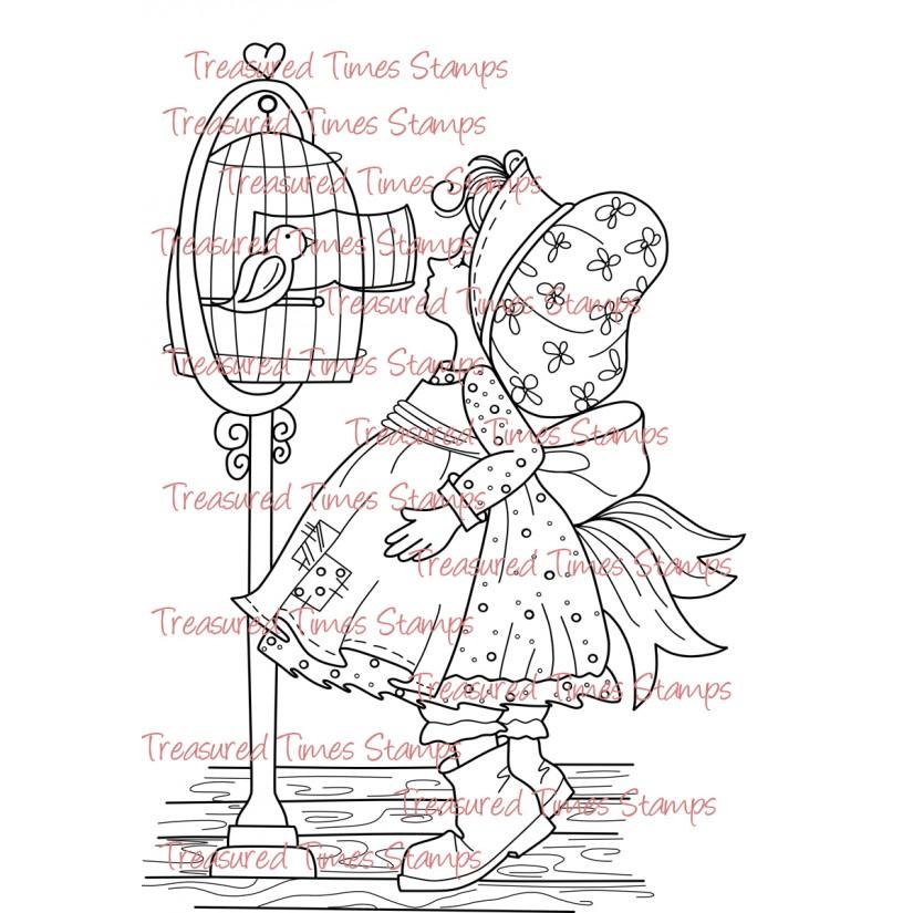 Carimbo Treasured Times - Bird Keeper  - JuJu Scrapbook
