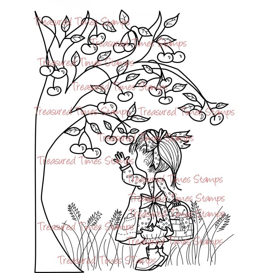 Carimbo Treasured Times - Cherry Picking  - JuJu Scrapbook