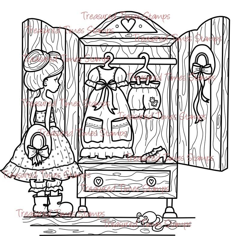 Carimbo Treasured Times - The Dress  - JuJu Scrapbook