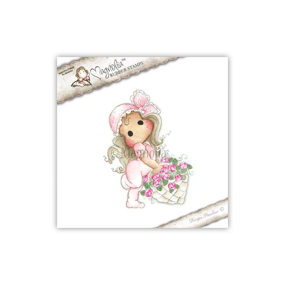 Carimbo Tilda With Rose Basket - Magnolia  - JuJu Scrapbook