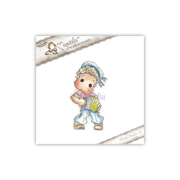 Carimbo Edwin With Accordion - Magnolia  - JuJu Scrapbook