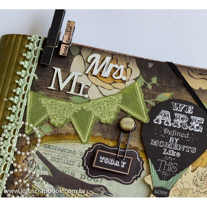 Álbum Pasta ´Mr & Mrs´  - JuJu Scrapbook