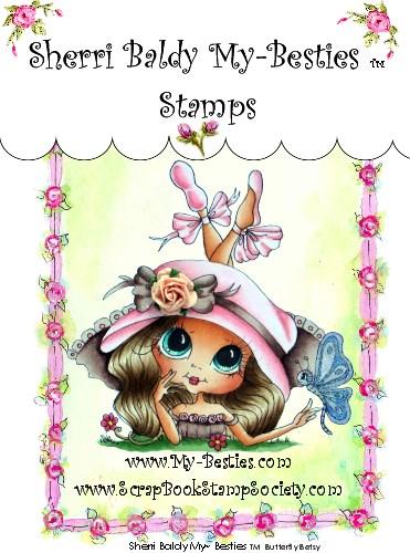 Carimbo My Besties - Modelo Butterfly Betsy  - JuJu Scrapbook