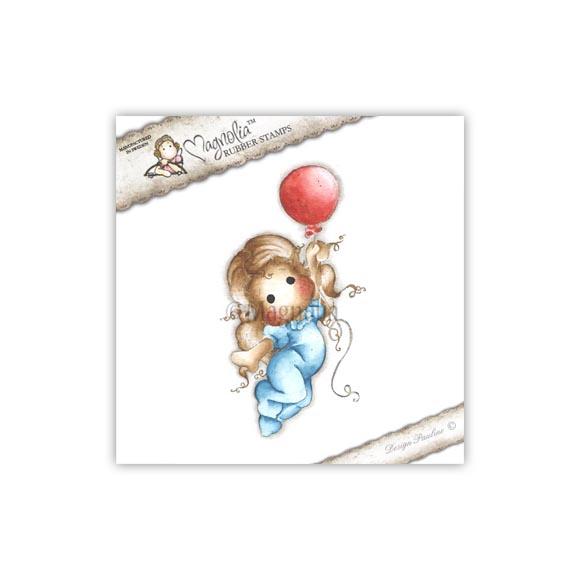 Carimbo Magnolia - Modelo Sweet Tilda with Balloon  - JuJu Scrapbook