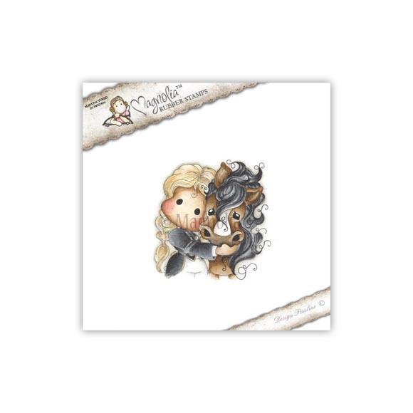 Carimbo Magnolia - Modelo Tilda with Angel the Horse  - JuJu Scrapbook