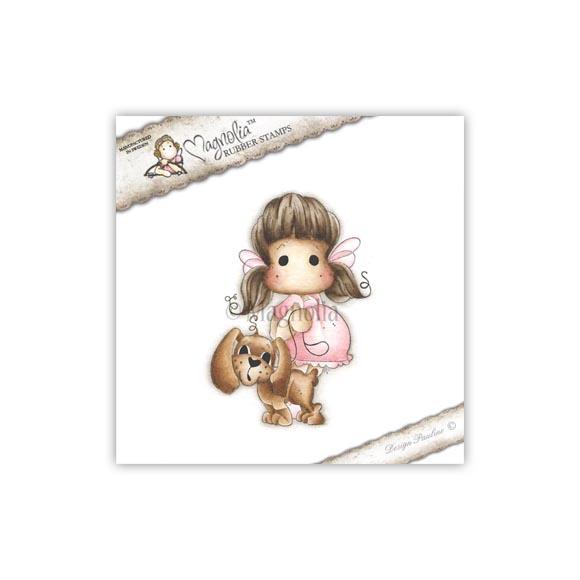 Carimbo Magnolia - Modelo Tilda with Chanel the Puppy  - JuJu Scrapbook