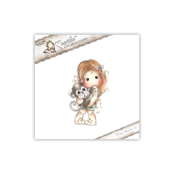 Carimbo Magnolia - Modelo Tilda with Maggie the Monkey  - JuJu Scrapbook