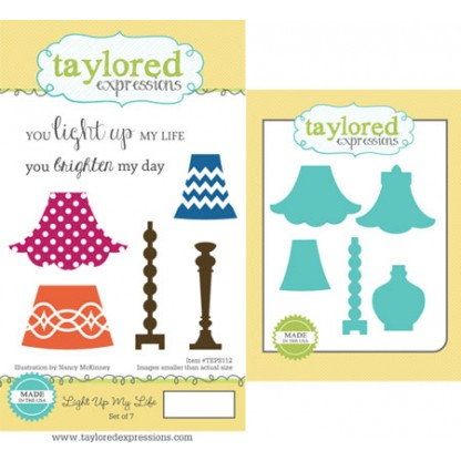 Dies + Carimbos Taylored Expressions - Modelo Light Up My Life  - JuJu Scrapbook