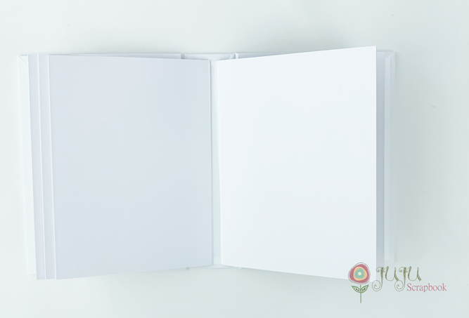 Álbum 16 x 22 com lombada Branco - JuJu Scrapbook  - JuJu Scrapbook