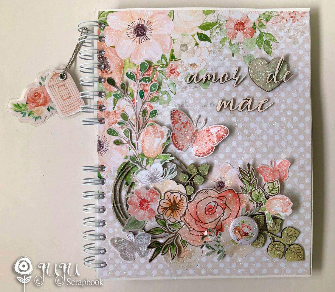 """Álbum """"Amor de Mãe"""" - JuJu Scrapbook  - JuJu Scrapbook"""