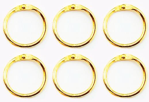 Argolas Articuladas em Metal 2cm - Dourada / Juju Scrapbook  - JuJu Scrapbook