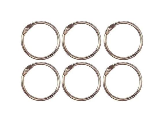 Argolas Articuladas em Metal 3,5 cm - Prata | JuJu Scrapbook  - JuJu Scrapbook