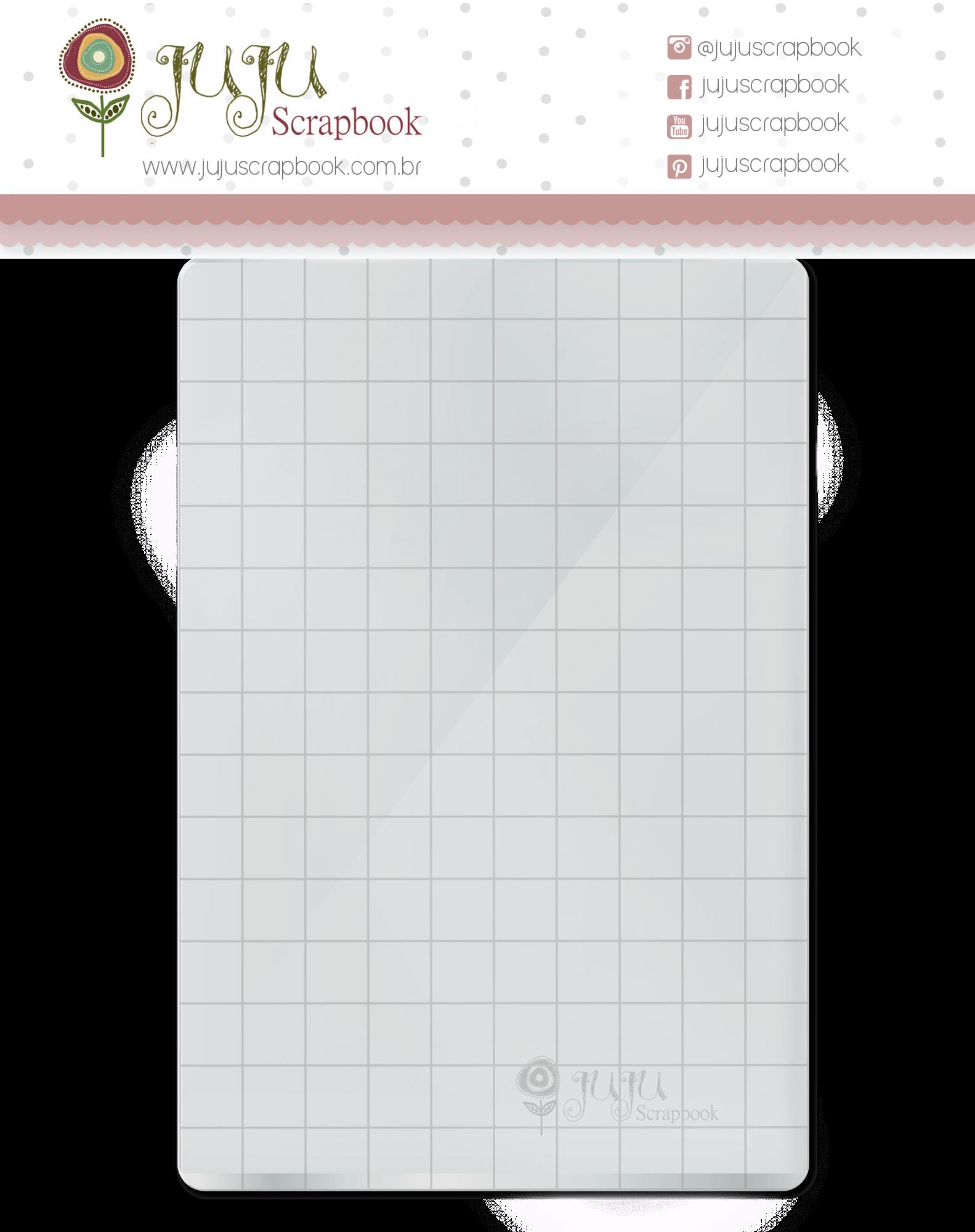 Base acrílica para carimbo - 10 cm x 15 cm  - JuJu Scrapbook