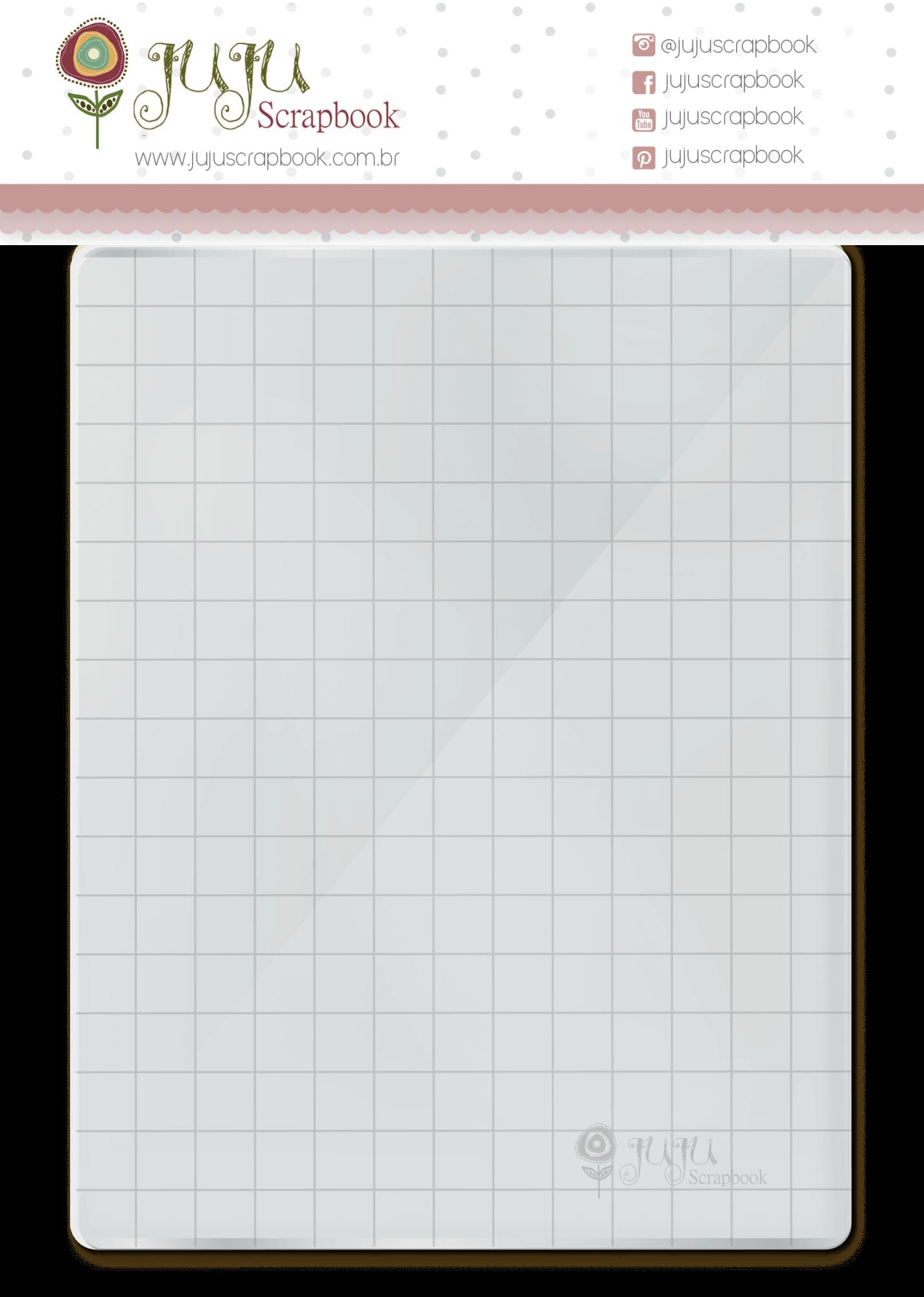 Base acrílica para carimbo - 13 cm x 17 cm  - JuJu Scrapbook