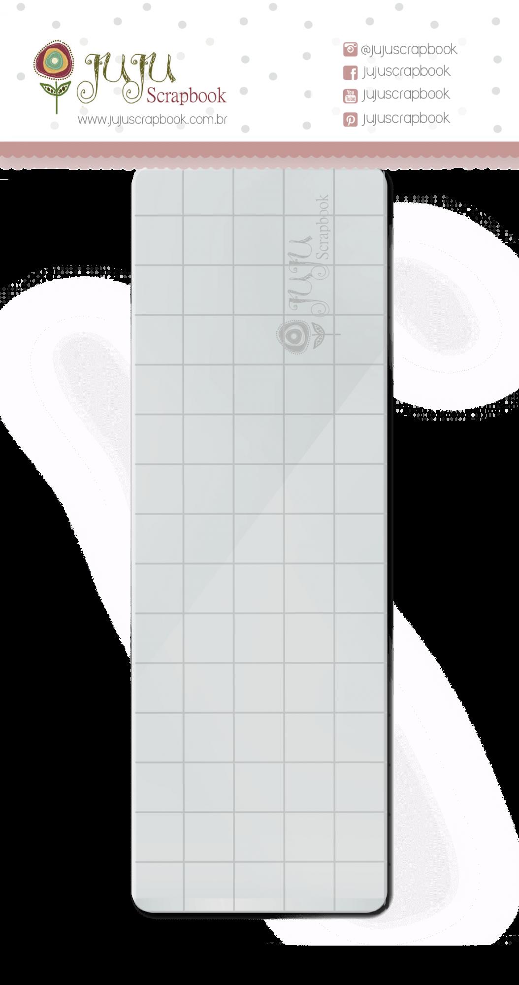Base acrílica para carimbo - 15 cm x 5 cm  - JuJu Scrapbook