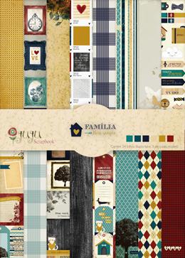 Bloco de Folhas A4 - Coleção Família para Sempre - JuJu Scrapbook  - JuJu Scrapbook