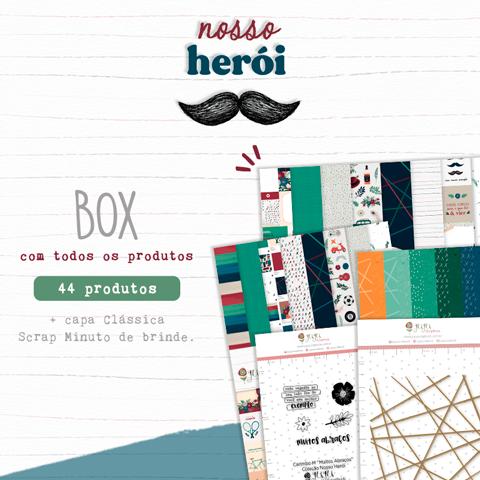 Box Coleção Nosso Herói - Juju Scrapbook   - JuJu Scrapbook
