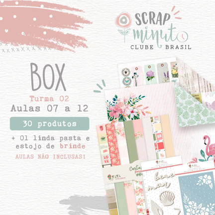 Box II Scrap Minuto Clube Brasil -Juju Scrapbook  - JuJu Scrapbook