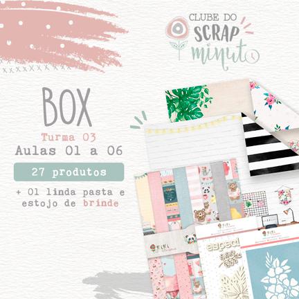 Box III Scrap Minuto Clube Brasil -Juju Scrapbook  - JuJu Scrapbook