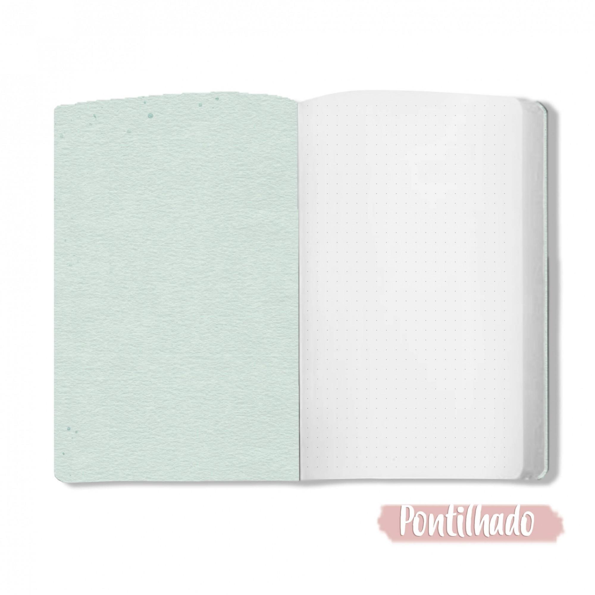 Caderno Cristalino - Scrap Minuto - Coleção Toda Básica / JuJu Scrapbook  - JuJu Scrapbook