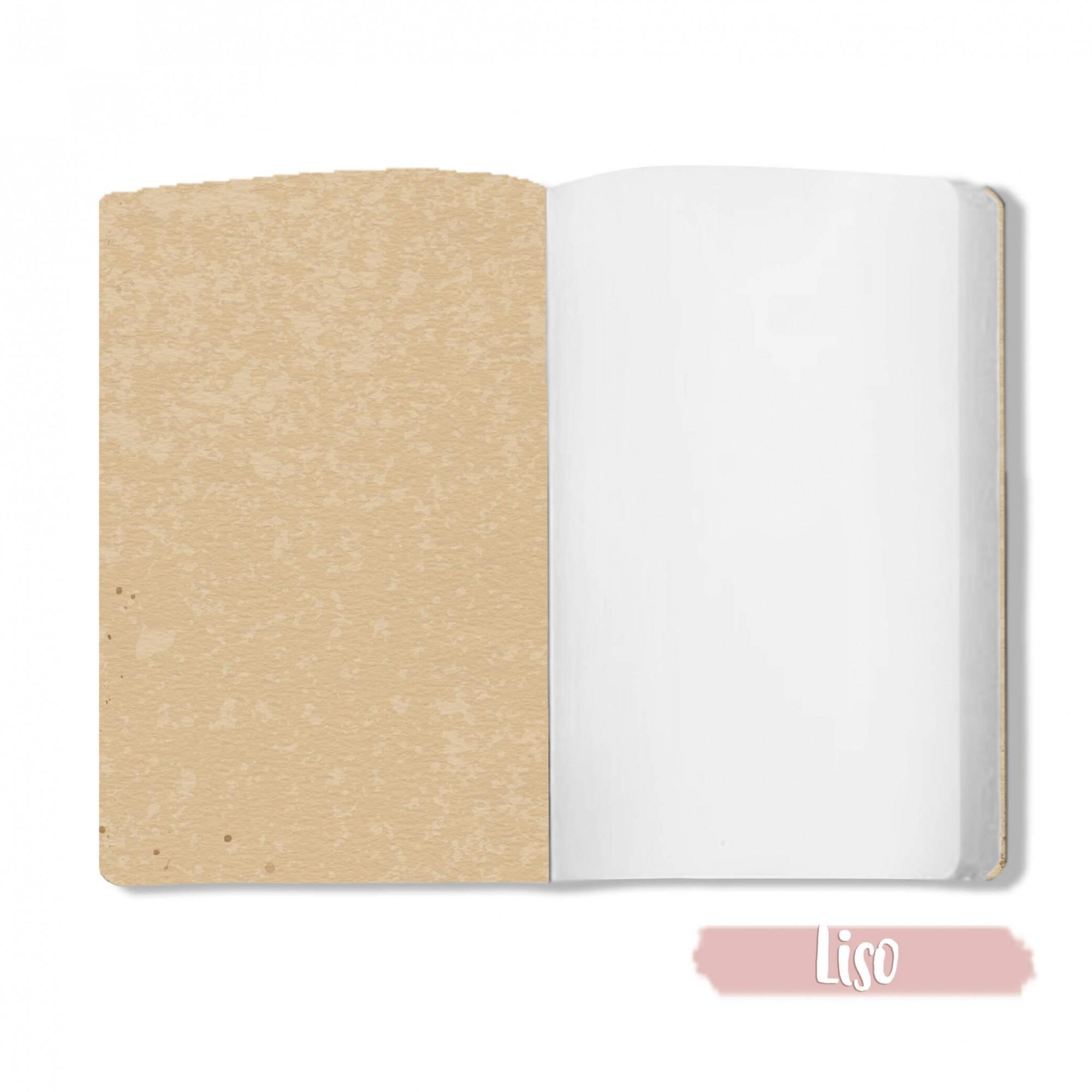 Caderno Doce de Leite - Scrap Minuto - Coleção Toda Básica / JuJu Scrapbook  - JuJu Scrapbook