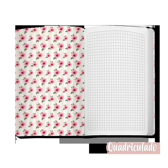 Caderno Globo Florido - Scrap Minuto - Coleção Quarentena Criativa / Juju Scrapbook  - JuJu Scrapbook