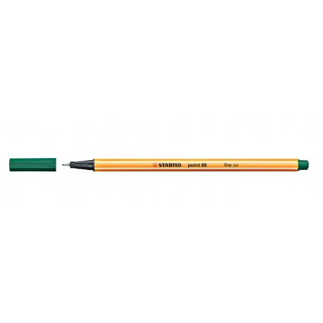 Caneta Stabilo Point 88 - Cor Verde Esmeralda (63)   Stabilo  - JuJu Scrapbook
