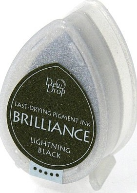 Carimbeira Brilliance  - Cor Lightning Black  - JuJu Scrapbook
