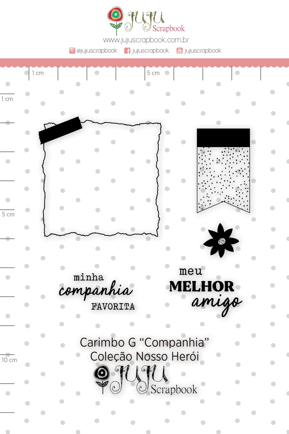 Carimbo G Companhia - Coleção Nosso Herói - JuJu Scrapbook  - JuJu Scrapbook