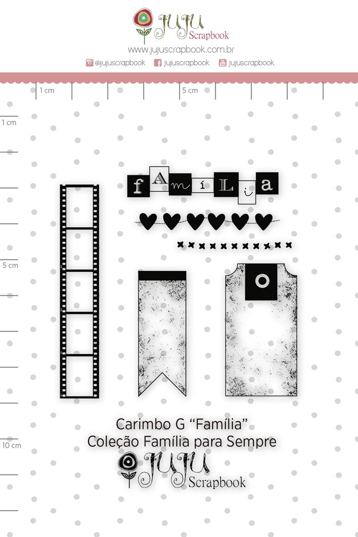 Carimbo G Família - Coleção Família para Sempre - JuJu Scrapbook  - JuJu Scrapbook