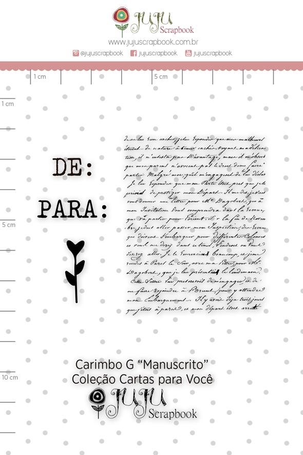 Carimbo G Manuscrito - Coleção Cartas para Você - JuJu Scrapbook  - JuJu Scrapbook