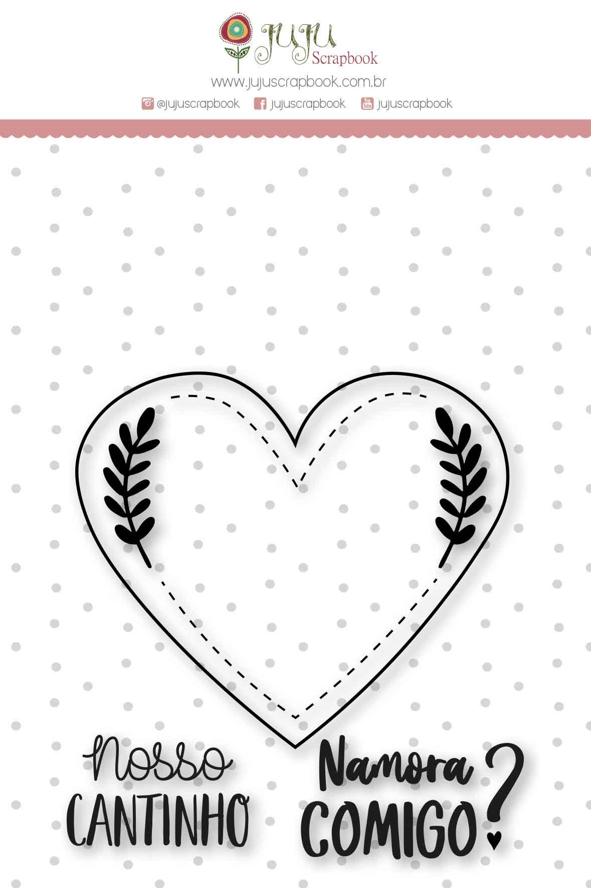 Carimbo G Nosso Cantinho - Coleção Espalhando Amor - JuJu Scrapbook  - JuJu Scrapbook