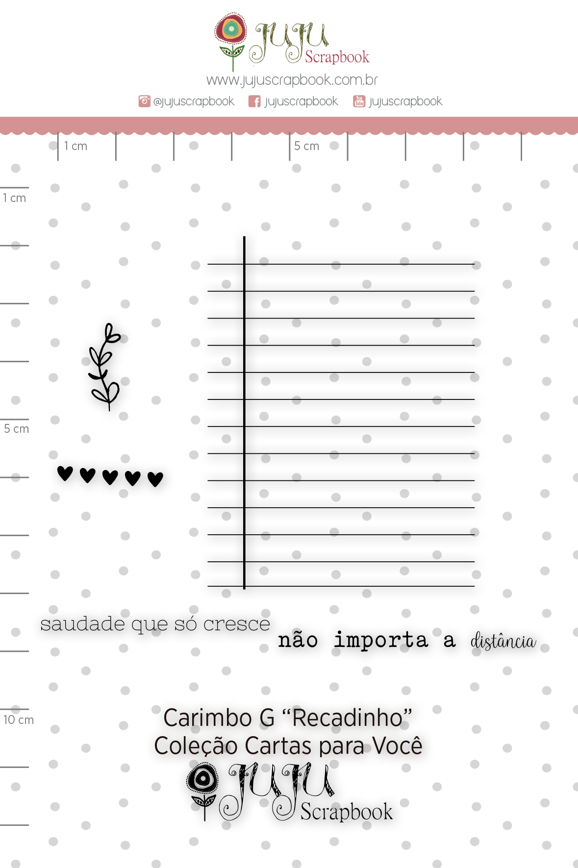 Carimbo G Recadinhos - Coleção Cartas para Você - JuJu Scrapbook  - JuJu Scrapbook