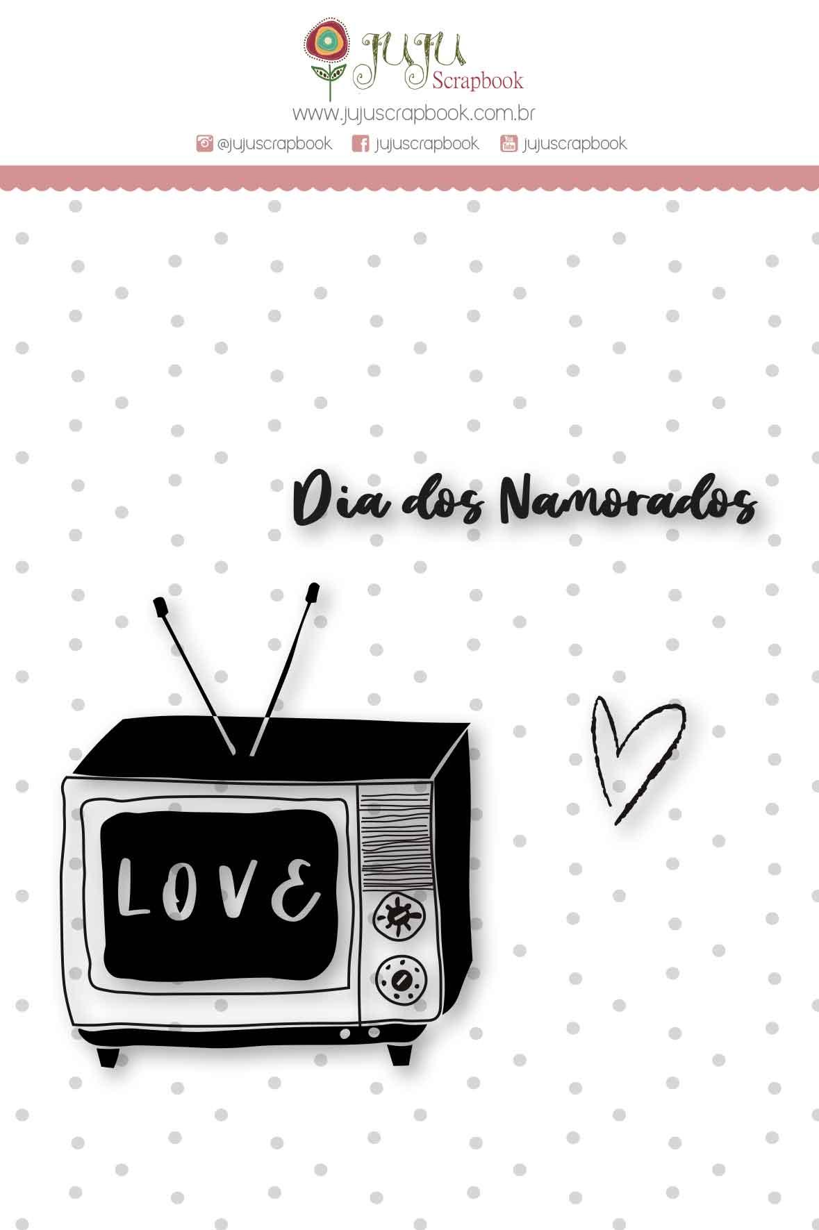 Carimbo M Dia dos Namorados - Coleção Espalhando Amor - JuJu Scrapbook  - JuJu Scrapbook