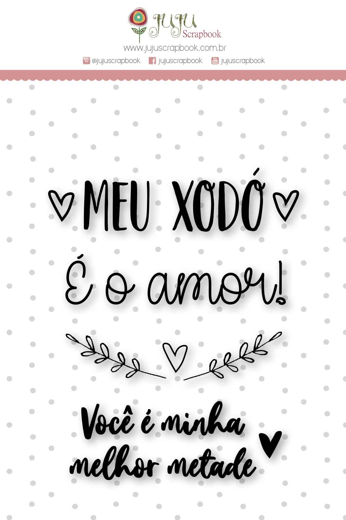 Carimbo M Meu Xodó - Coleção Espalhando Amor - JuJu Scrapbook  - JuJu Scrapbook