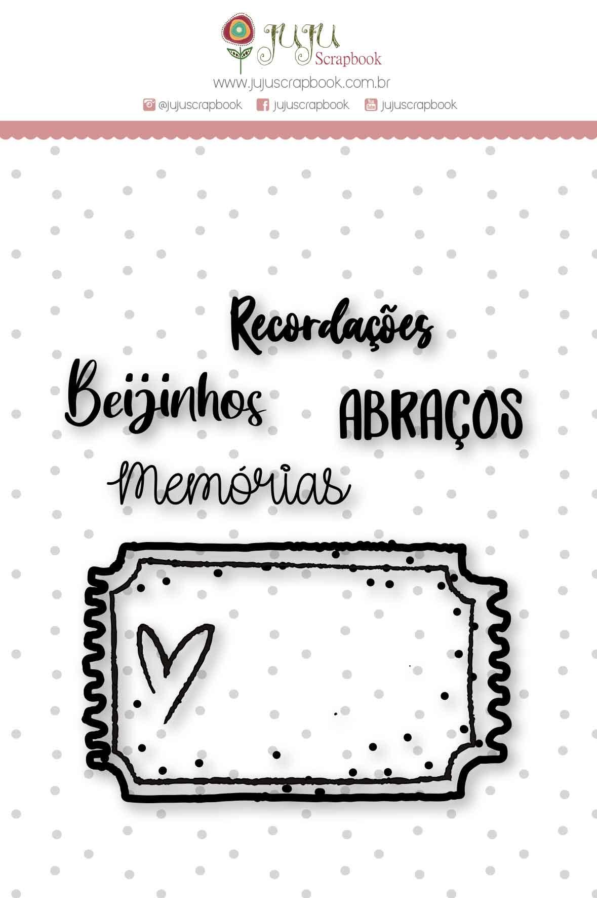 Carimbo M Sentimentos - Coleção Espalhando Amor - JuJu Scrapbook  - JuJu Scrapbook